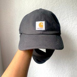 Carhartt Black Fleece Lined Warm Ear Hat